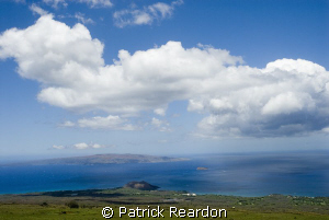 View from upcountry Maui.  Kahoolawe, Molokini crater, Re... by Patrick Reardon 